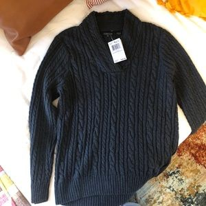 Women's Chunky V-neck Sweater